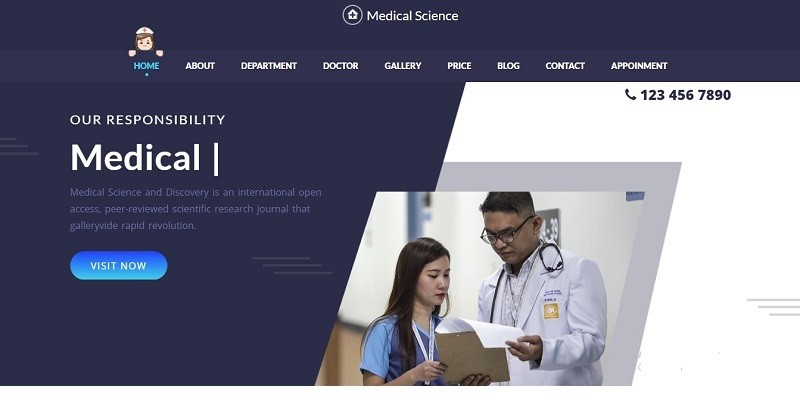 Medical - Science One Page Html Template