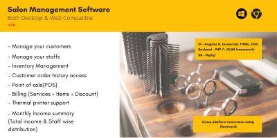 Salon Management Software PHP NodeJS