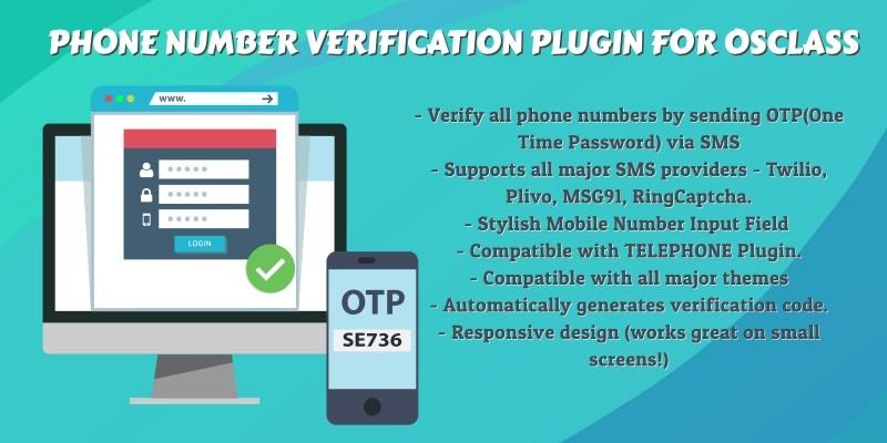 Phone Number Verification Plugin For Osclass