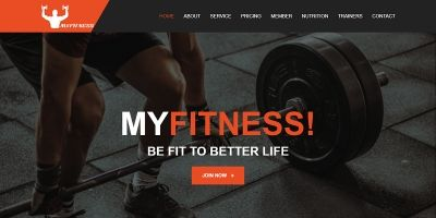 MyFitness - Gym One Page HTML5 Template