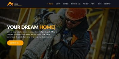 Home Construction - Builder HTML5 Landing Page