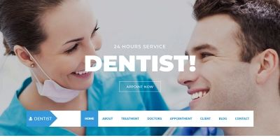 Dentist - Hospital One Page Html Template