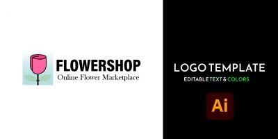 Flowershop - Marketplace Logo Template