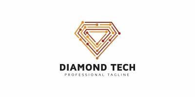 Diamond Tech Line Logo