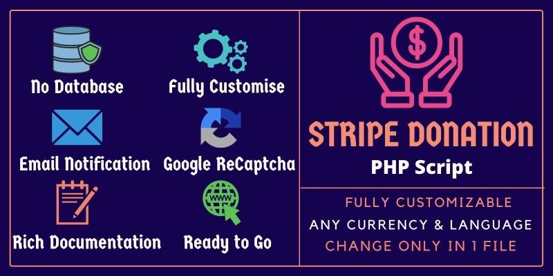 Donato - Stripe Donation PHP Script