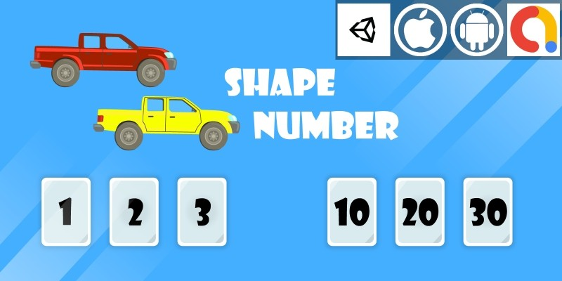 Shape Number Unity Kids Math Game With Admob