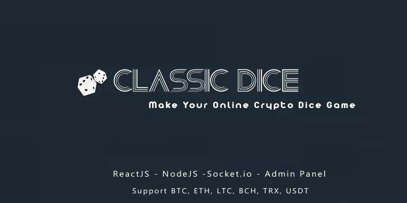 Classic Dice Crypto Game NodeJS