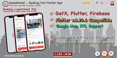HomeRental - Full Flutter Application With Backend