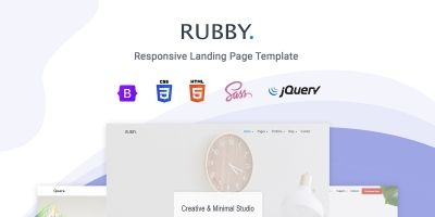Rubby - Landing Page Template