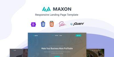 Maxon - Landing Page Template