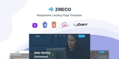 Zireco - Bootstrap 5 Landing Page Template