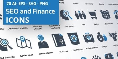 Finance And SEO Icons
