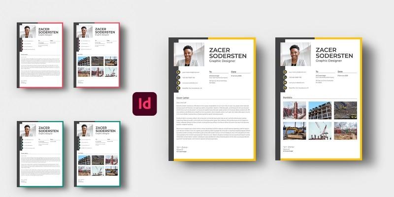 Resume With Portfolio Page
