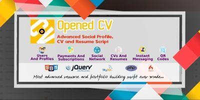 Opened CV - Advanced Social Profile CV And Resume