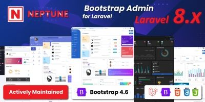 Neptune - Laravel  Admin Template Script