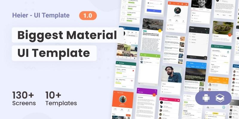 Heier - Material UI Kit For Android Studio