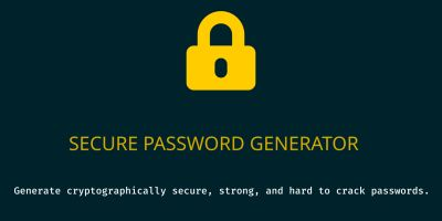 Secure Password Generator PHP Script