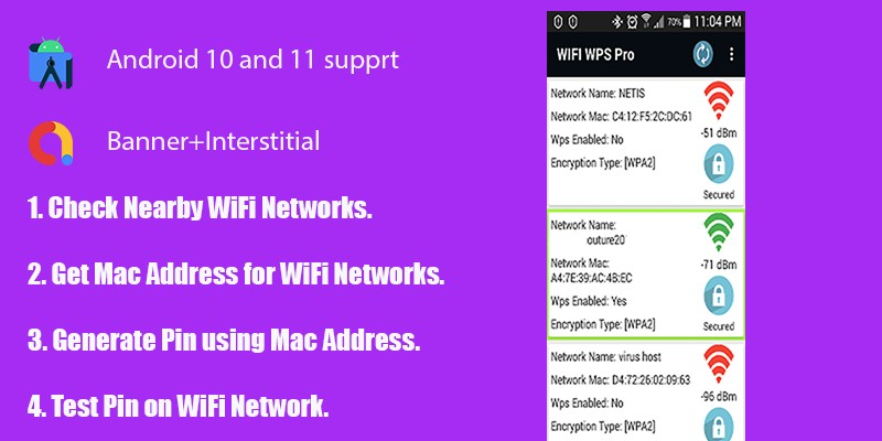 WiFi WPS Pro with Admob Ads - Android App