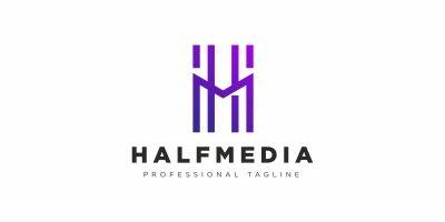 H Letter Media Logo