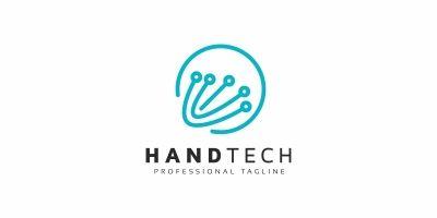 Hand Tech Logo