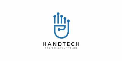 Hand Tech Modern Logo