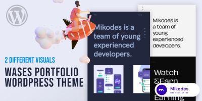 Wases Portfolio -  Wordpress Theme
