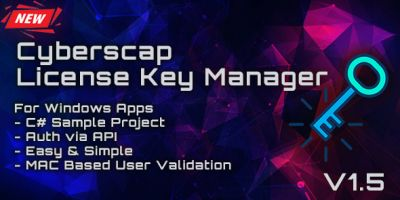 Cyberscap License Key Manager Web Application
