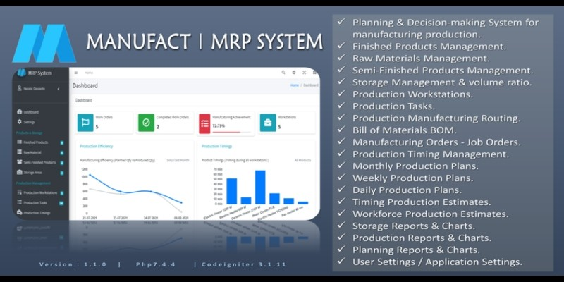 MANUF - PHP Manufacturing System