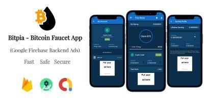 Bitpia - Bitcoin Faucet Android App