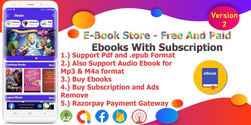 eBook Store - Android Studio Code