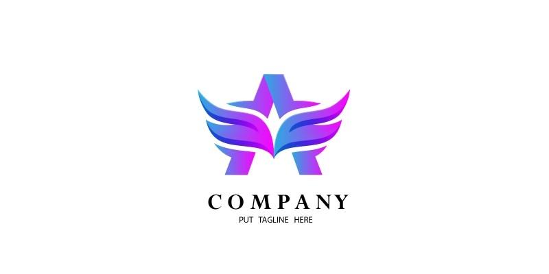 Letter A Angel Logo Design