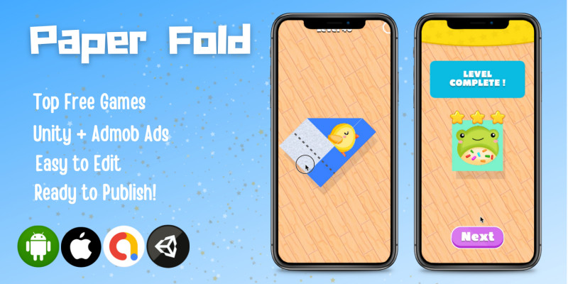 Paper Fold - Hyper Casual Unity Game