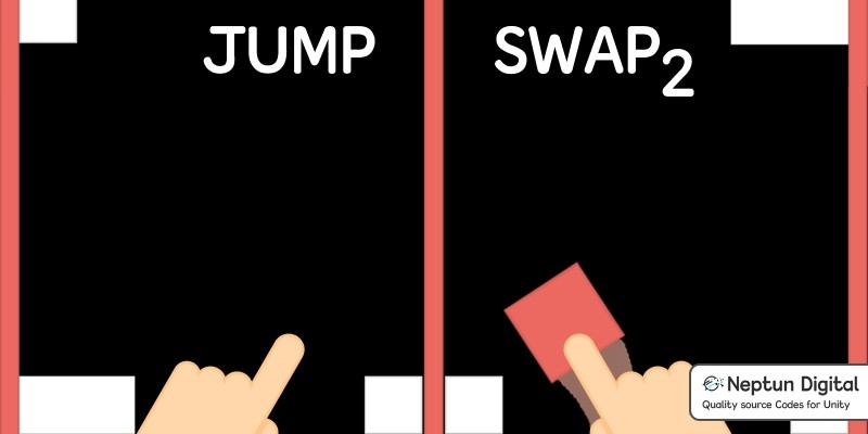 Jump Swap 2 - 2D Game template for Unity