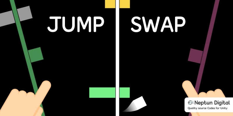 Jump Swap - 2D Game template for Unity