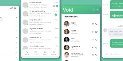 Void Chat App - Full UI Kit - Figma