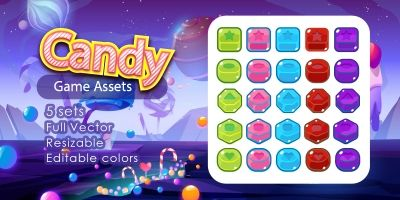 Candy Game Assets
