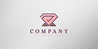 Diamond Rose Logo Template