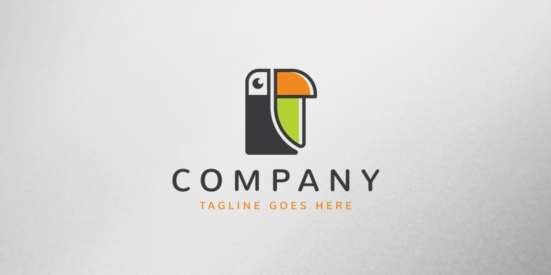 Toucan Letter Logo Template
