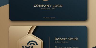 Creative Geomec Modern Business Card Template