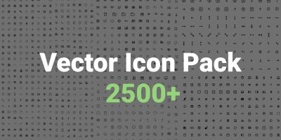 Vector icon Pack - 2500 Icons