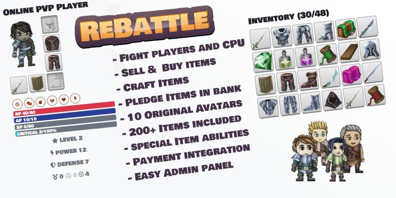 ReBattle - Online PVP Browser Game PHP