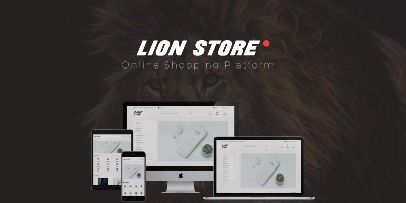 Lion Store - Online Shopping Platform Node JS