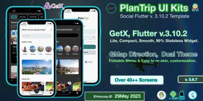PlanTrip - Social Flutter 2 Template UI with GetX