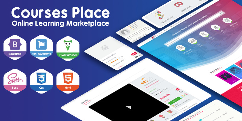 Courses Place - Learning Marketplace HTML Template