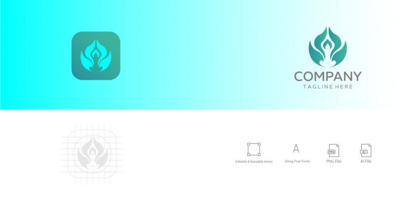 Yoga Logo Design  App Icon