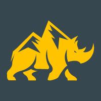 Rhino Rock Vector Logo Design