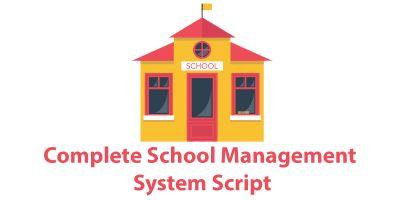 Complete School Management System Script