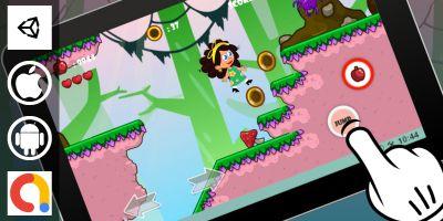 Adventurous Girl Unity Platformer With 10 Levels