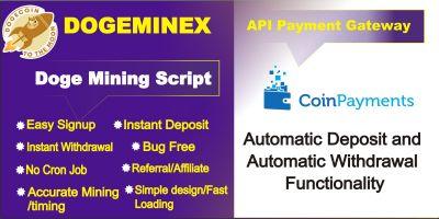 DogeMinex - Doge Coin Cloud Mining Script