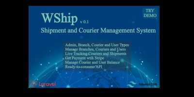 WShip - Shipment And Courier Management System